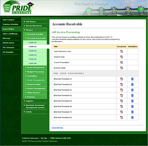 Image of the SAP Accounts Receivable course in PRIDE University